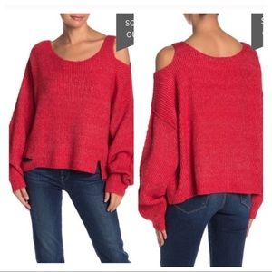 NWT! WILDFOX Buffy Cold Shoulder Knit Sweater